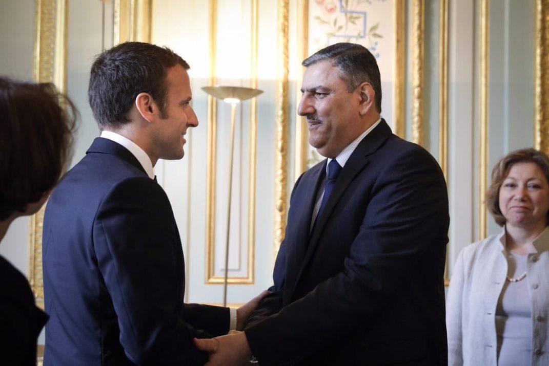 Macron rencontre le chef de l'opposition syrienne.