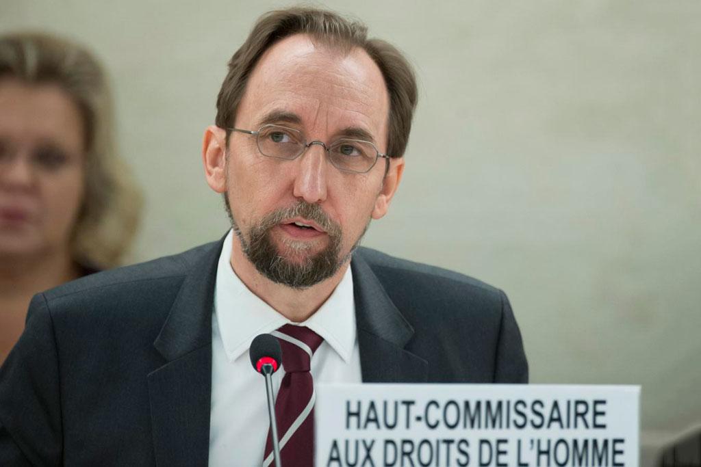 Le Haut-Commissaire des Nations Unies aux droits de l'homme, Zeid Ra'ad Al Hussein. Photo: ONU / Jean-Marc Ferré