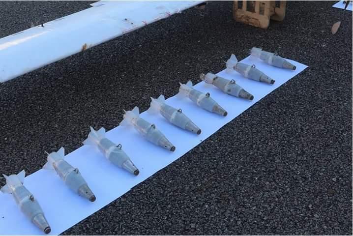 Les bombes utilisées dans les attaques que la Russie prétend avoir capturés