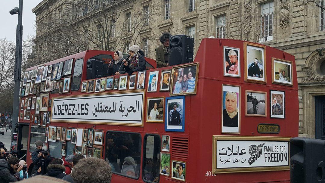 Familles Syriennes pour la liberté à Paris, le 17 janvier 2018