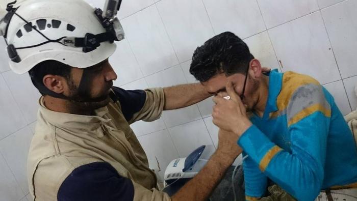 Une victime du gaz de Chlore à Douma