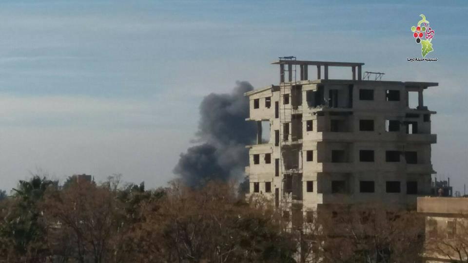Le bombardement de la ville de Douma, le 19 février 2018