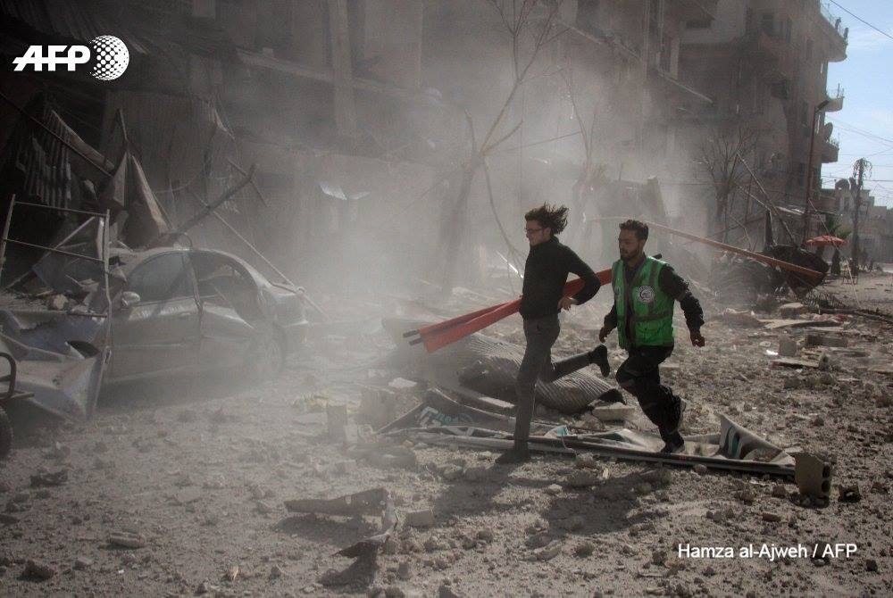 Des secouristes de la Ghouta mobilisés partout