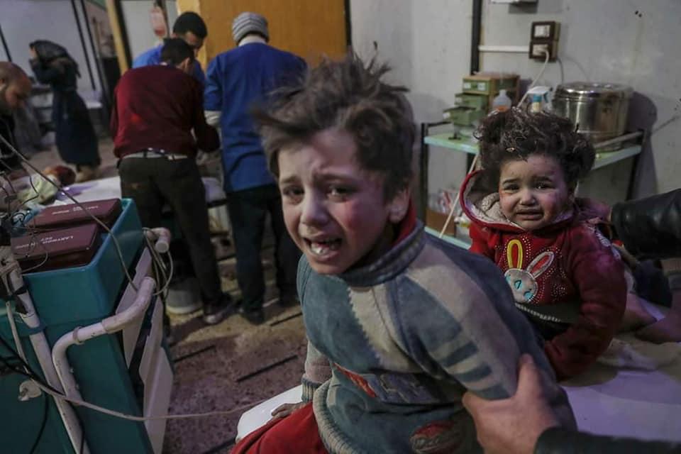 Des enfants aux urgences à la Ghouta Orientale