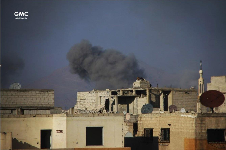 Le bombardement de la Ghouta , aujourd'hui