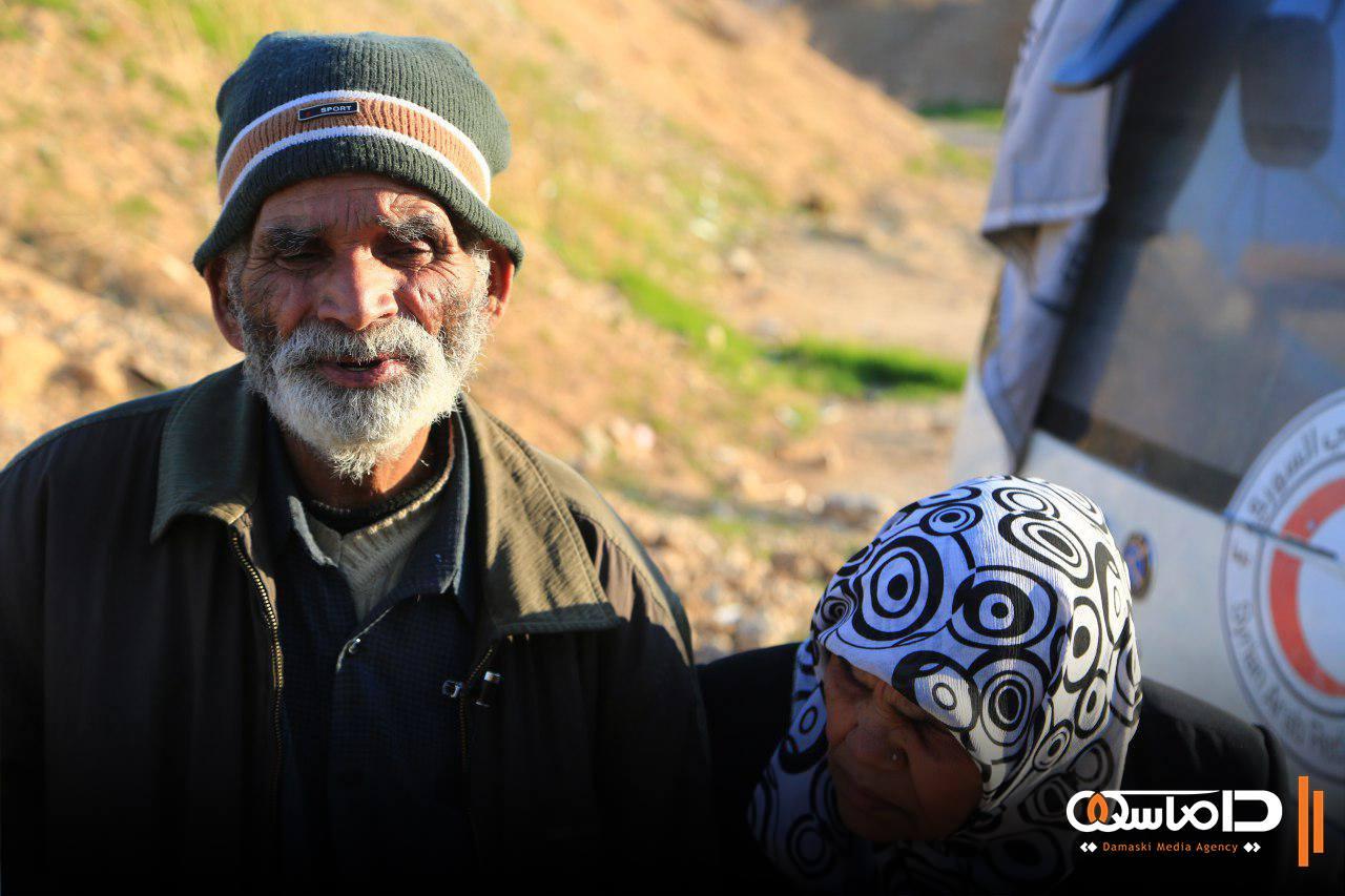 Le couple pakistanais évacué de la Ghouta orientale.