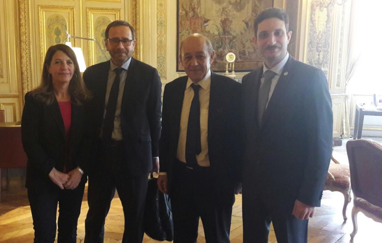 La délégation des ONG au Quai d'Orsay