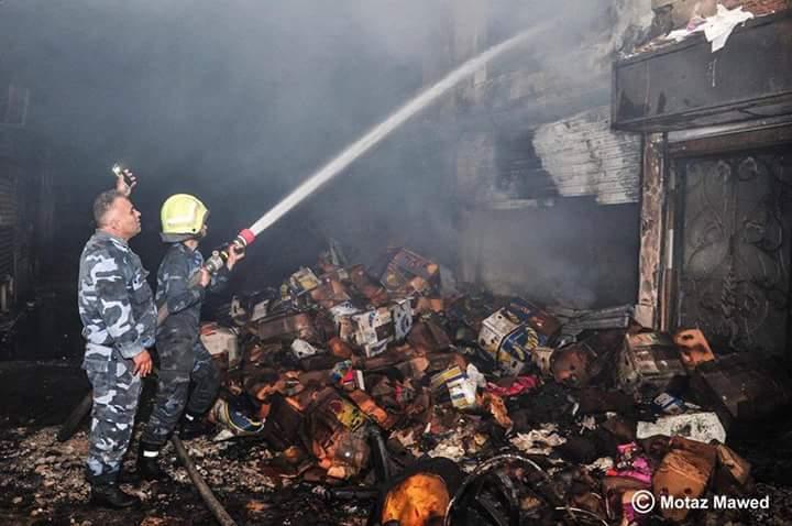 Souk Al-Hal de Damas détruit par l'incendie