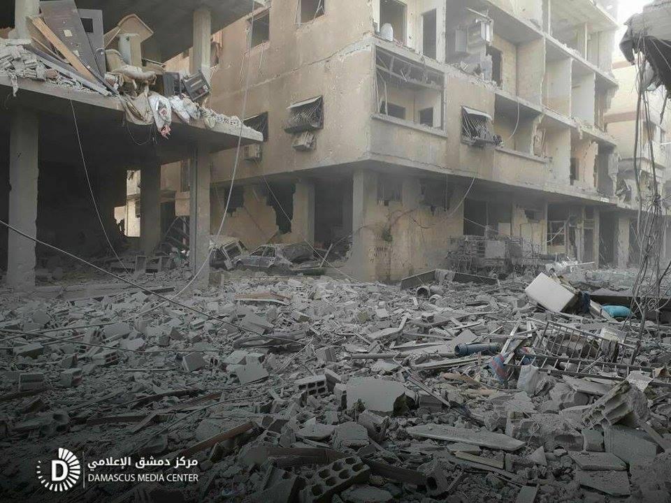 Les traces des raids russes à Hamouria