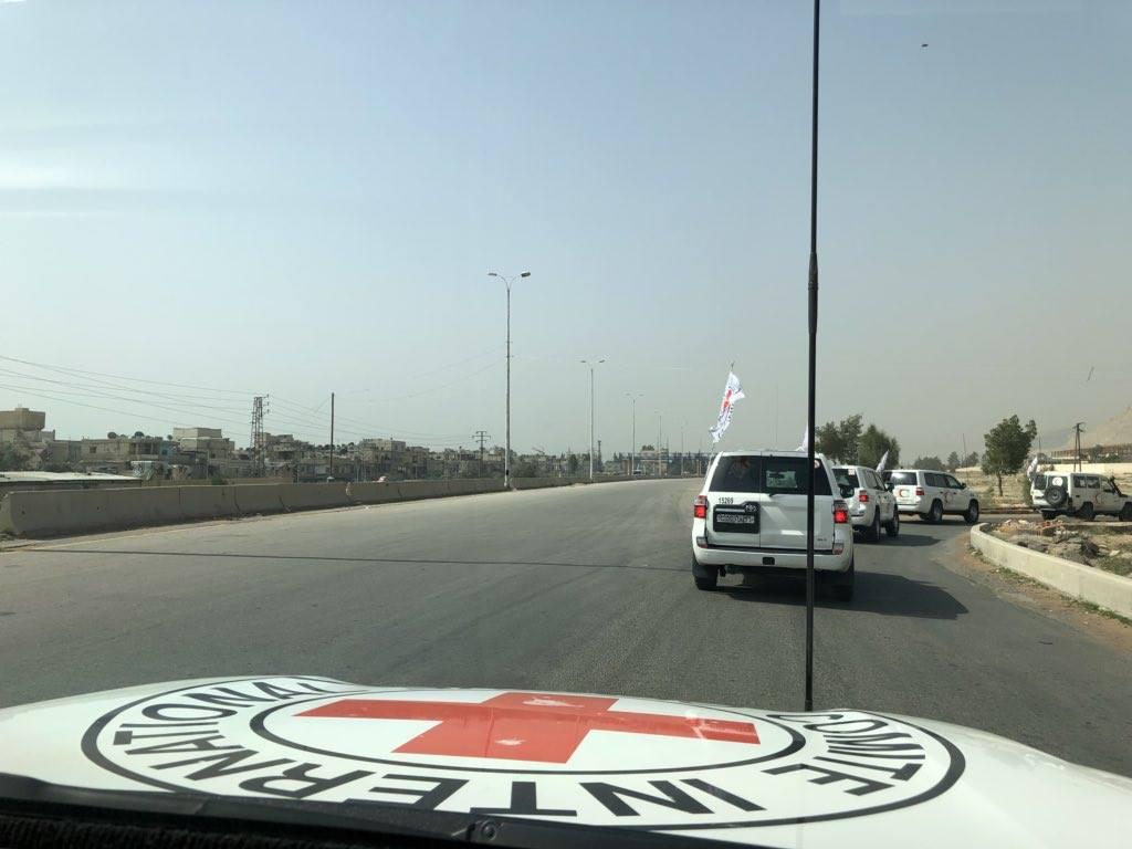 Le convoi d'aides humanitaires entré aujourd'hui à la Ghouta