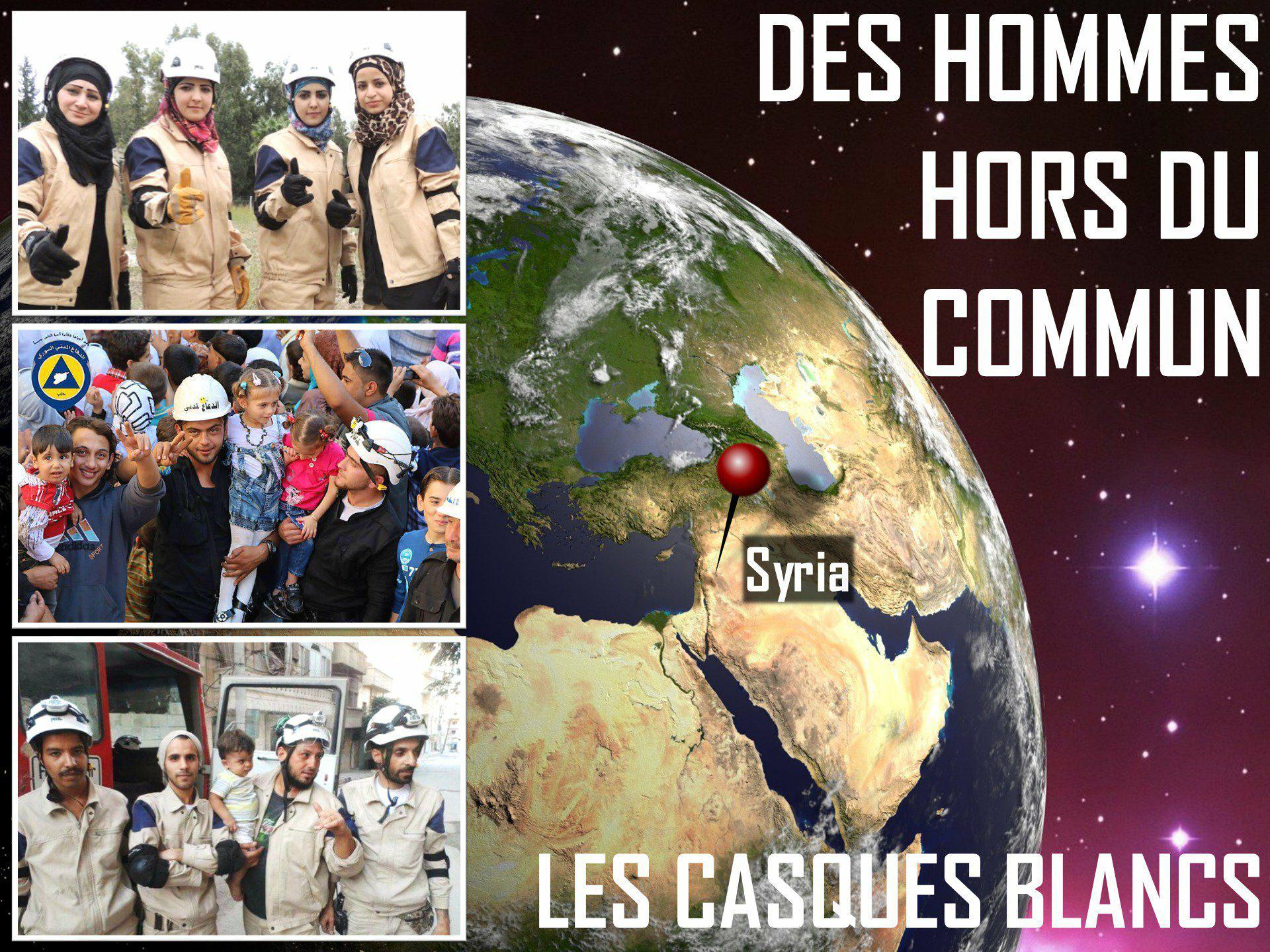 Tweetstorm en solidarité avec les casques blancs en Syrie