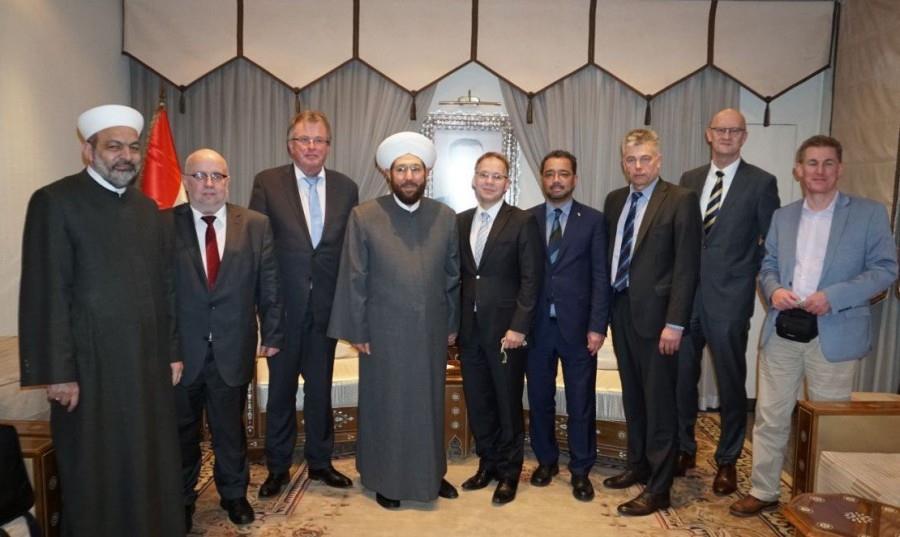 La délégation de l'AFD allemand avec le mufti de la Syrie