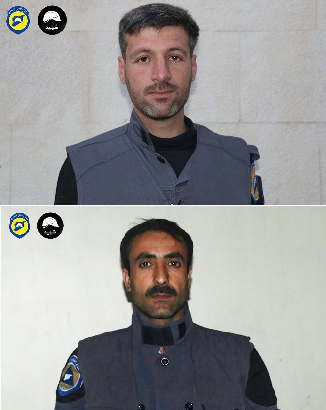 Jamal Hashish et Yasser sobhieh, deux martyrs de la défense civile syrienne
