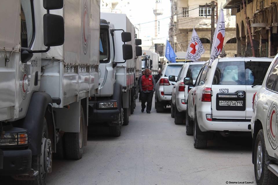 Le convoi humanitaire entré aujourd'hui dans la Ghouta orientale
