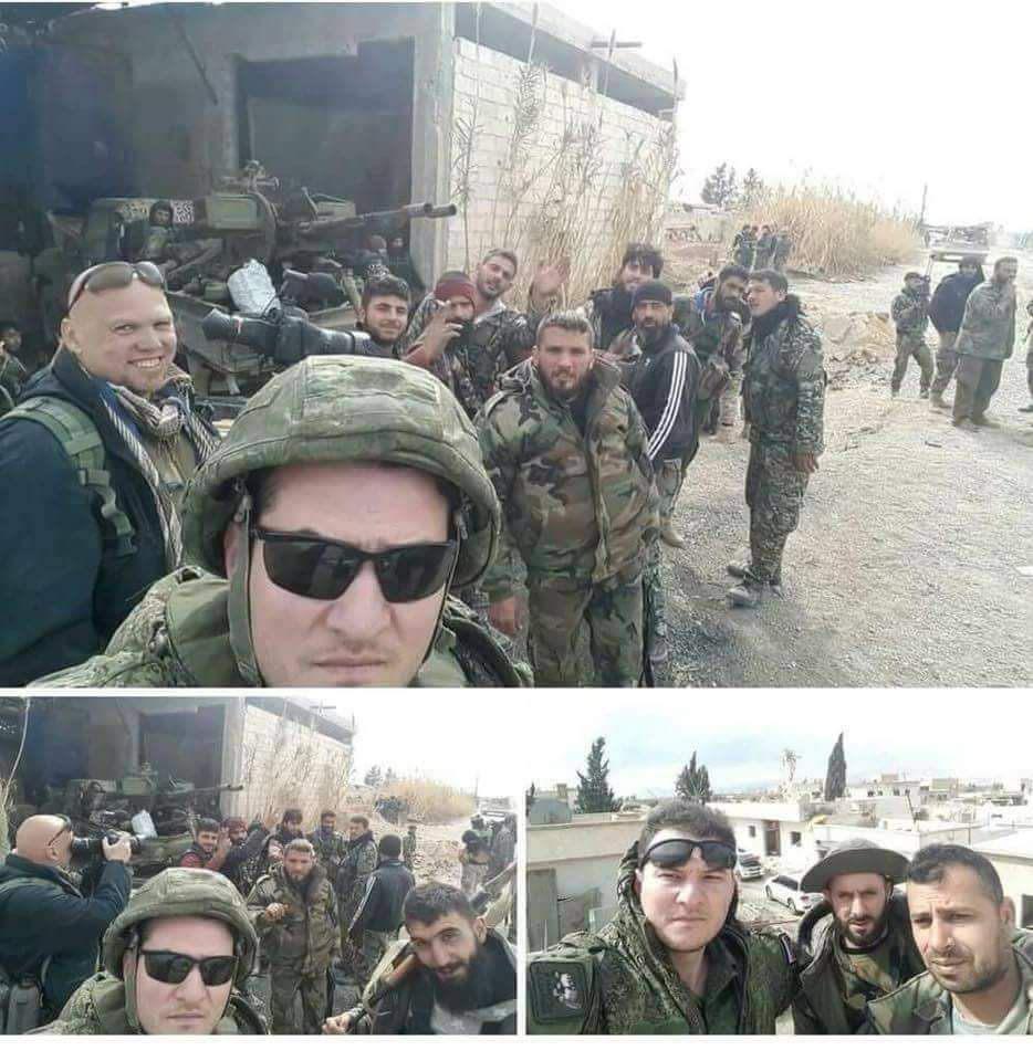 Les soldats russes en selfie sur les abords de la Ghouta orientale