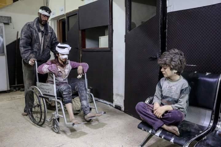 Un centre médical à Zamalka dans la Ghouta orientale