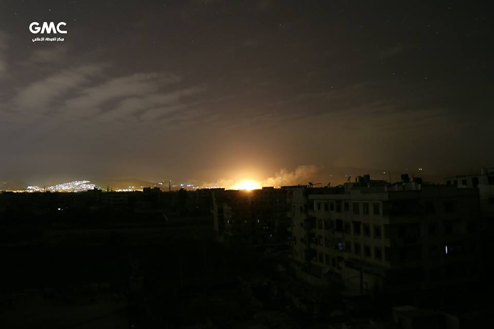 Explosion d'un baril de TNT à Arbine