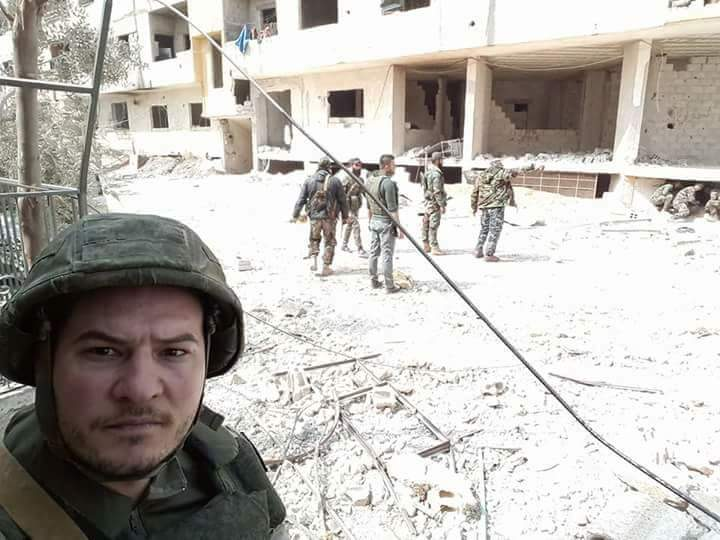 L'armée du régime, aujourd'hui, dans les rues de Masraba