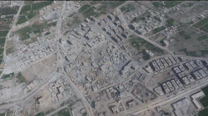 Une vue aérienne récente de la ville de Masraba