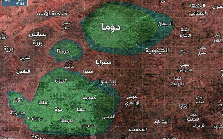 La Ghouta divisée en trois zones assiégées