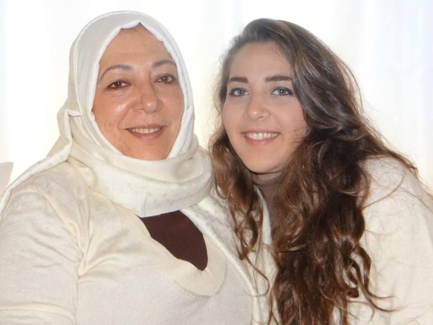 L'opposante Orouba Barakat et sa fille