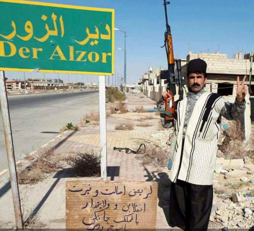 Un milicien iranien près de Deir Ezzor