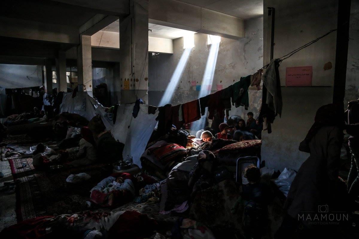 Les déplacés de la Ghouta dans les abris sous-terrains