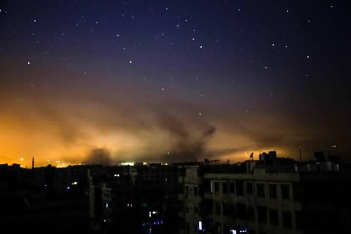 Le bombardement nocturne de la Ghouta orientale