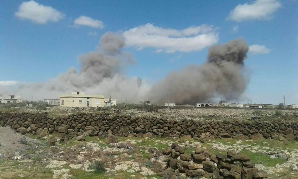 Bombardement dans la province de Deraa