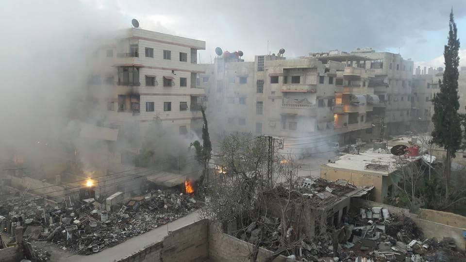 Le marché de Kafar Batna, détruit par l'aviation russe