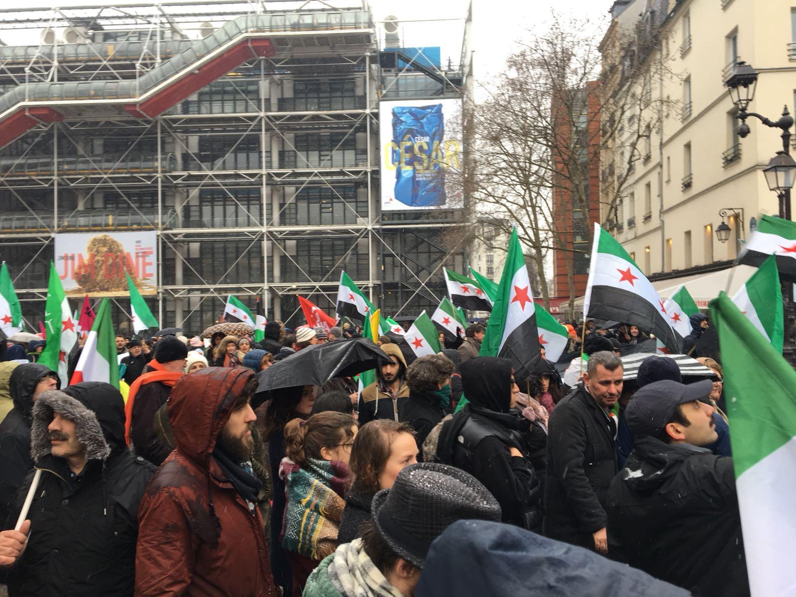 Manifestation du 7ème anniversaire de la révolution syrienne à Paris