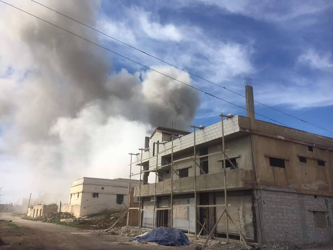 Les raids aériens en province de Deraa
