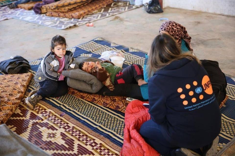 Les habitants déplacés d'Afrin