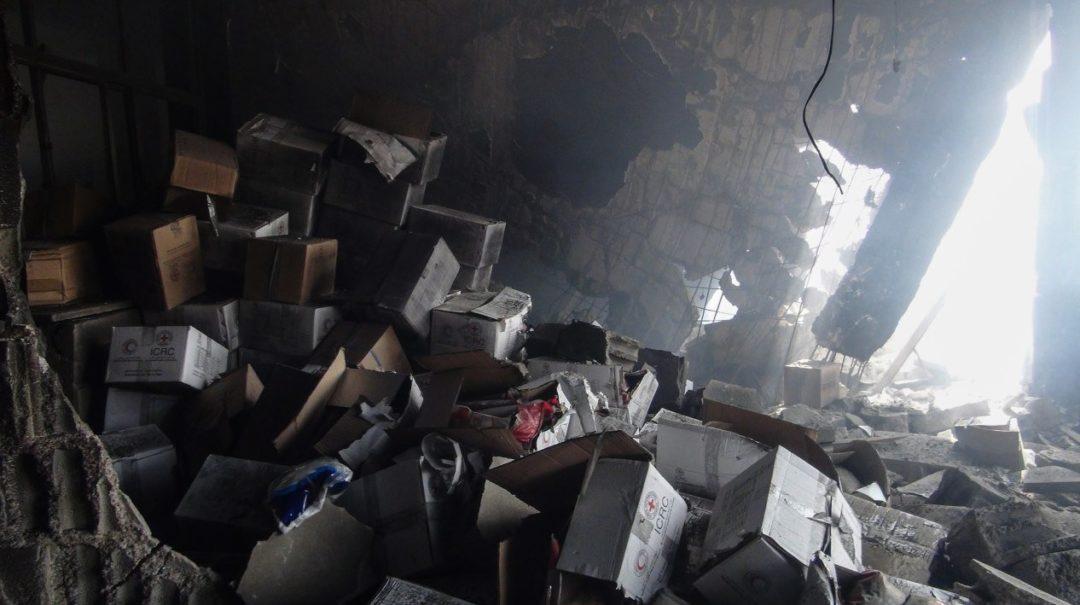 Les aides humanitaires détruites par les raids aériens