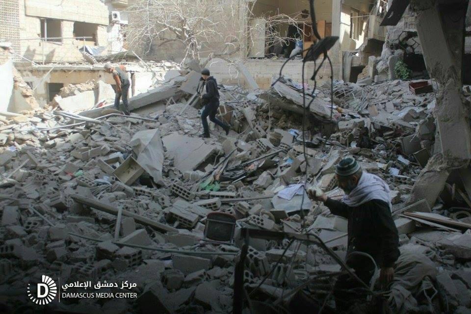 La mosquée de Douma après sa destruction