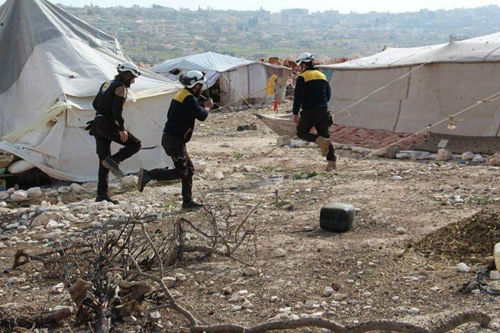 Les casques blancs, sauvent des vies à Hass à Idlib