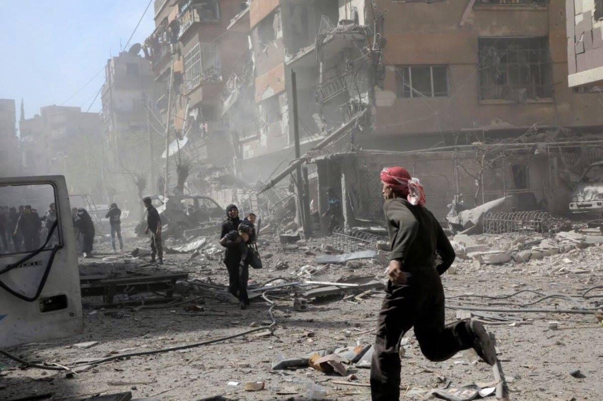 Le bombardement de la Ghouta pendant les derniers jours
