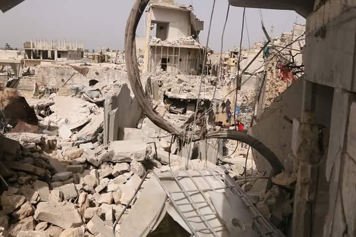 La destruction à la ville d'Harem, aujourd'hui