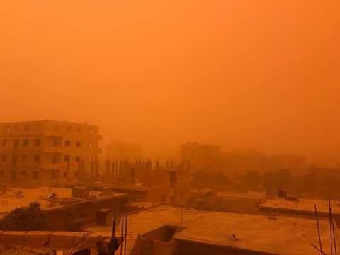 La tempête à la ville de Deir Ezzor