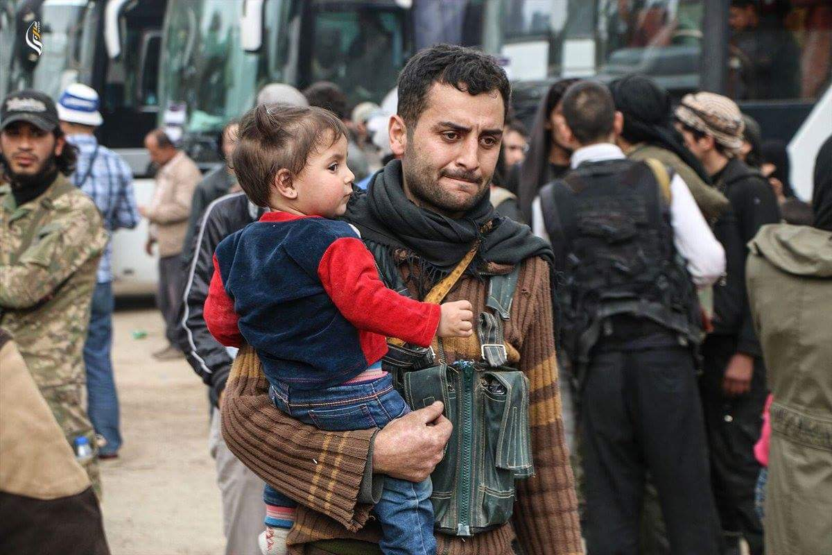 A deportee before departure from Ghouta