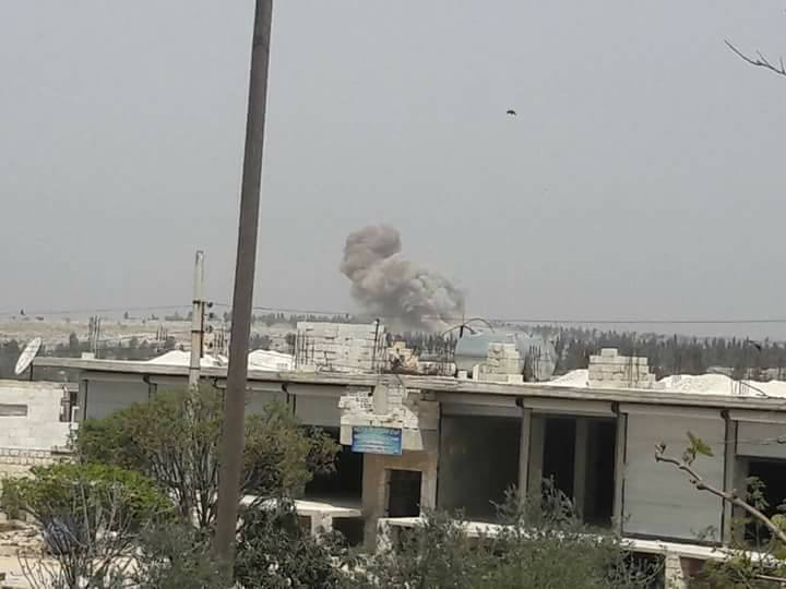 Bombing of the periphery of Kafranbel