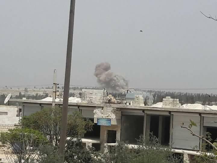 Les bombardements en périphérie de Kafranbel
