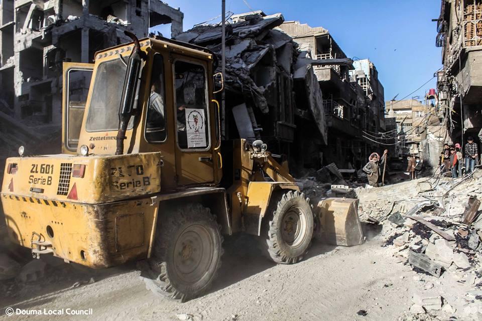 Déblayage des rues par le Conseil municipal de Douma