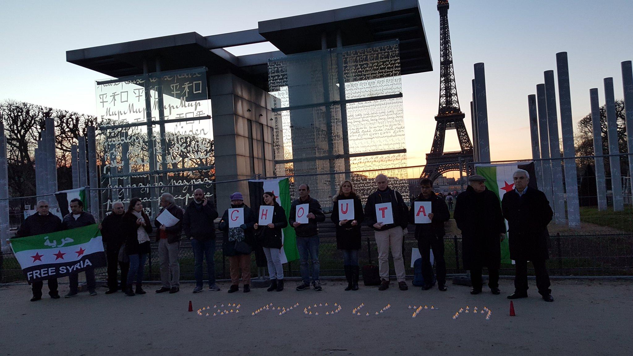 Le rassemblement au Mur de la Paix à Paris