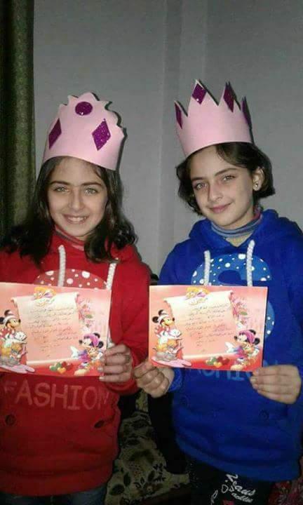 Les deux soeurs jummelles d'Idlib, victimes du massacre