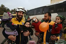 White helmets take care of deported kids