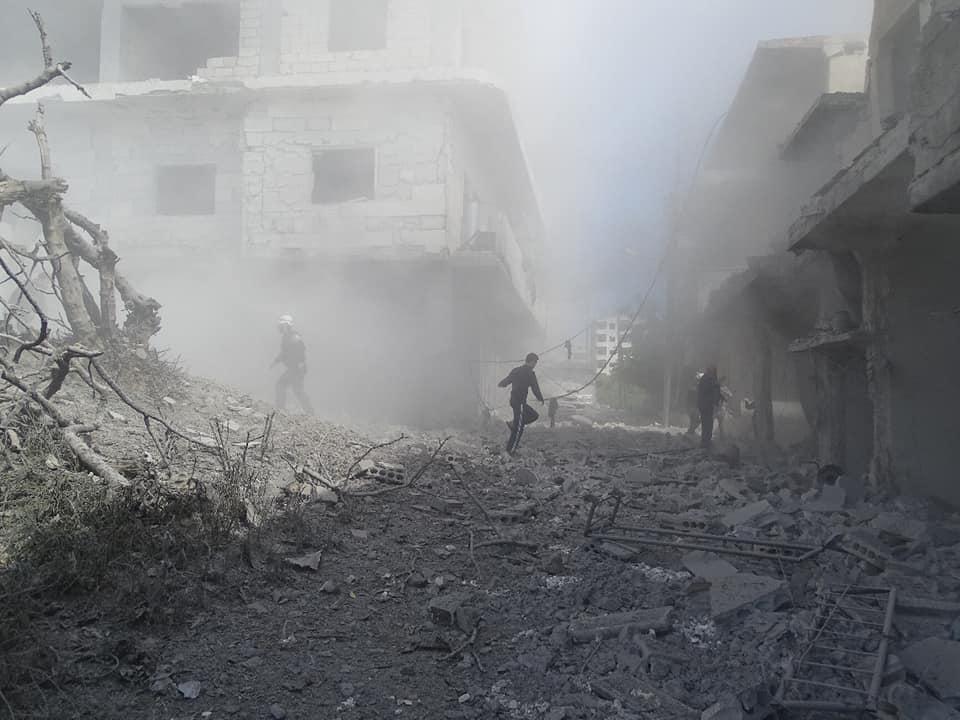 Les raids aériens sur Ariha