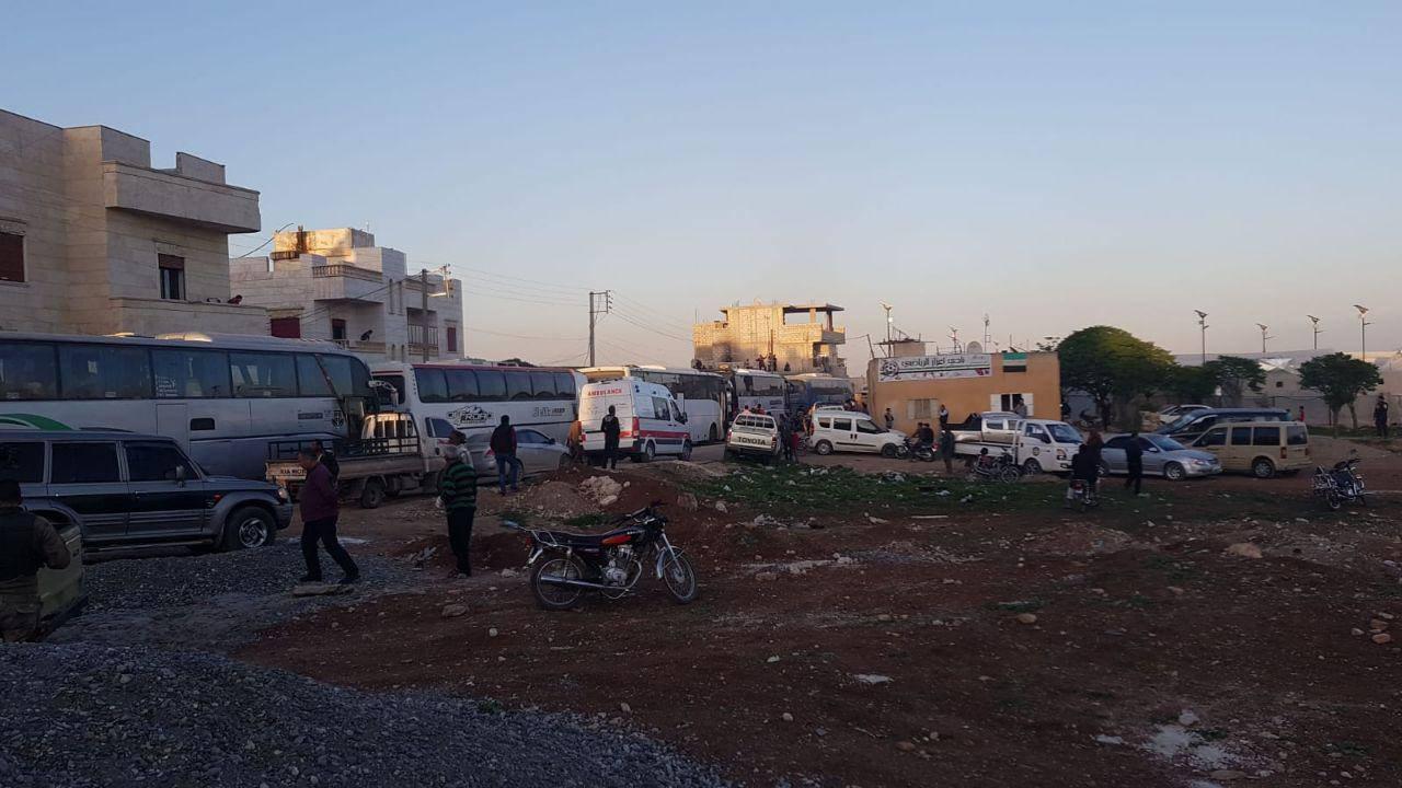 Le convoi des déportés à la ville d'Aazaz