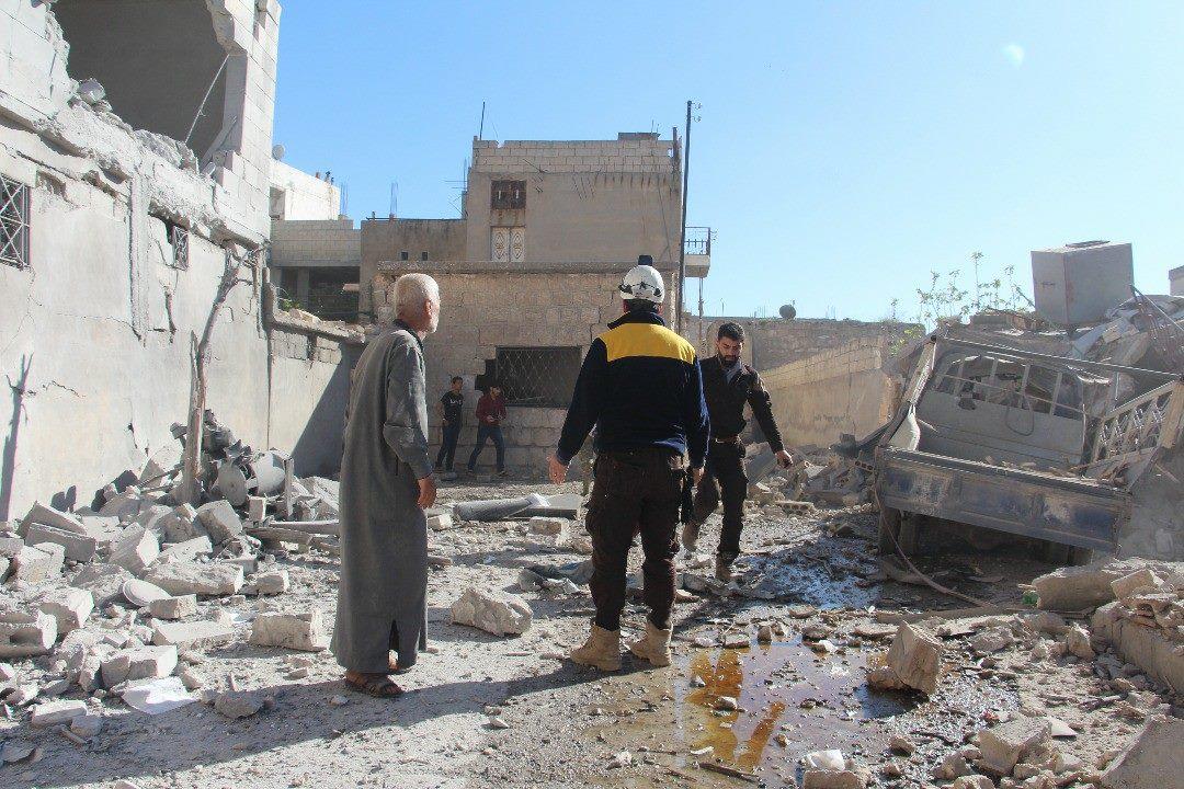 Les traces des raids aériens sur Kafranbel