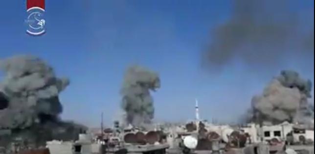 L'intensité des bombardements sur Douma aujourd'hui